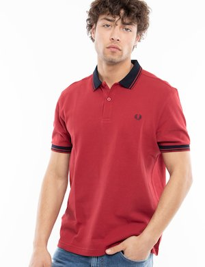 Polo Fred Perry con colletto a contrasto