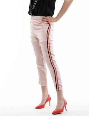 Pantalone Fracomina con elastico in vita e fasce a lato