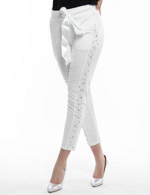 Pantalone Fracomina con perle e lustrini