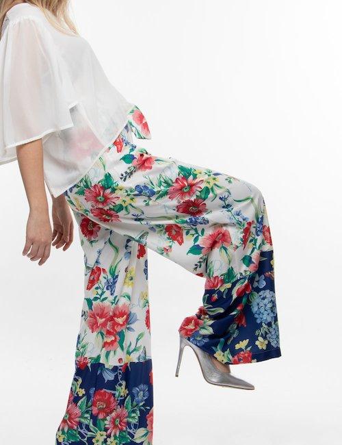 Pantalone Fracomina a fiori - Fantasia