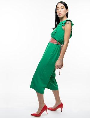 fafdfefb64b82 Jumpsuit Fracomina con volant e cintura - Green Multicolor - vedi 1 ...