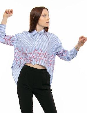 Camicia GAeLLE asimmetrica con logo stampato