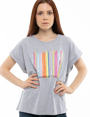T-shirt GAeLLe con stampa arcobaleno