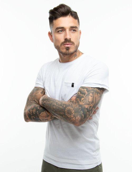 T-shirt Jacob Smith con taschino - Bianco