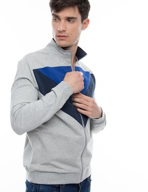 Felpa Guess full-zip color-block