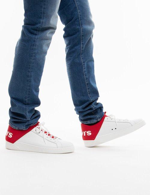 Sneakers Levi's con logo oversize - Bianco Rosso