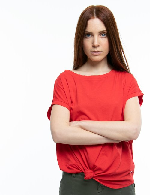 T-shirt Fifty Four a tinta unita - Arancione