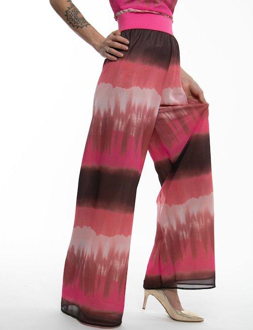 Pantalone TOY G sfumato con fascia elastica - Rosa