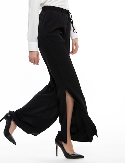 Pantalone  Yes Zee con spacco laterale - Nero