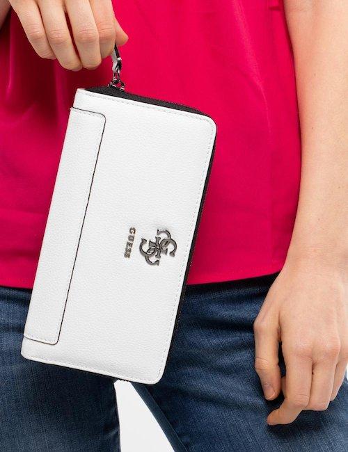 Portafoglio Guess con logo - White