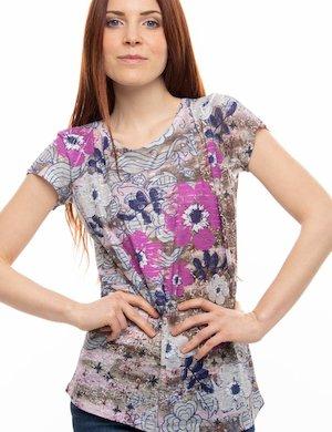 T-shirt Yes Zee fantasia a fiori