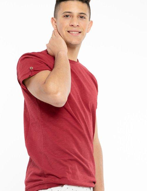 T-shirt Yes Zee con tagli al vivo - Red_Bronze