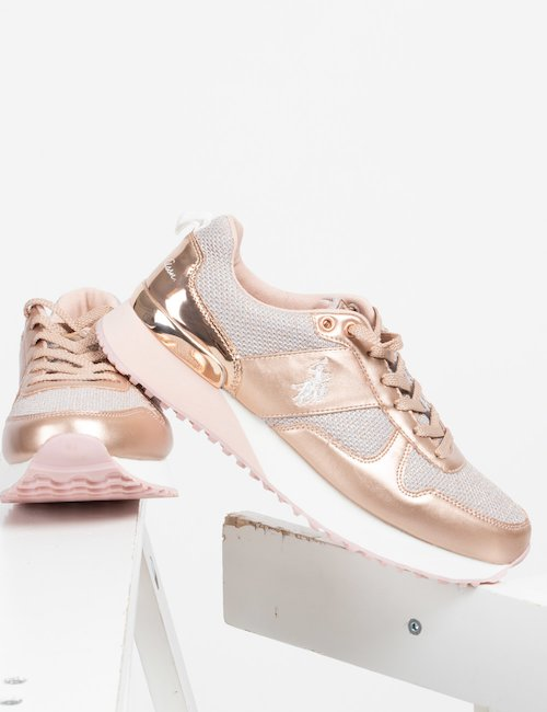 Sneakers U.S. Polo Assn. stringata - Rosa