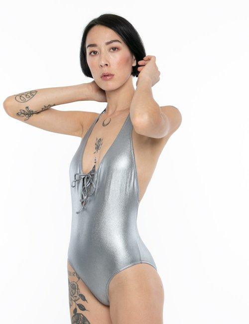 Costume Sundek intero schiena scoperta - Argento