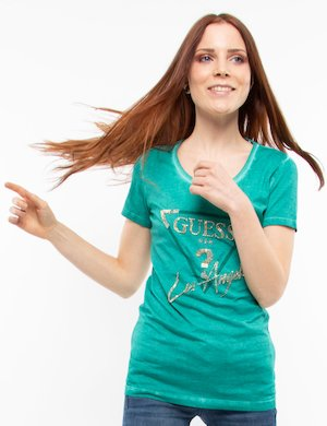 T-shirt Guess con perline