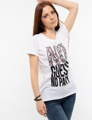 T-shirt Guess con strass