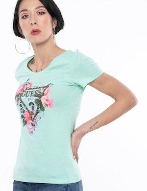 T-shirt Guess logo in rilievo e stampa