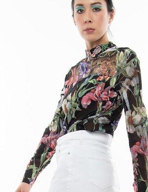 Camicia Guess con fiori e strass