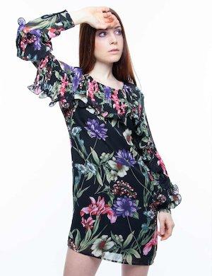 Vestito Guess a fiori con plissè