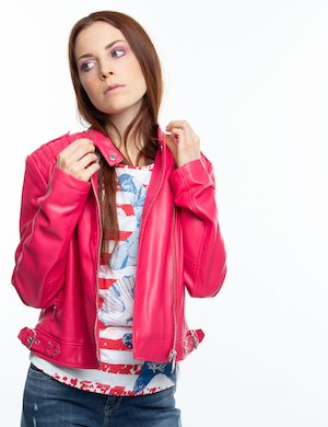 Giacca biker Guess in ecopelle