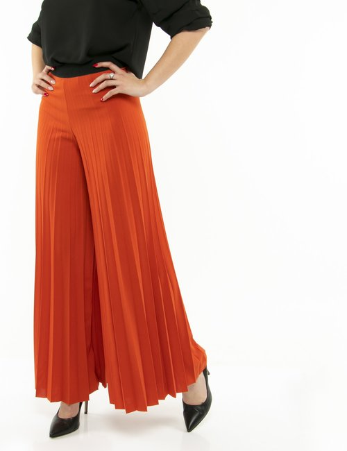 Pantalone Vougue plissettato - Arancione