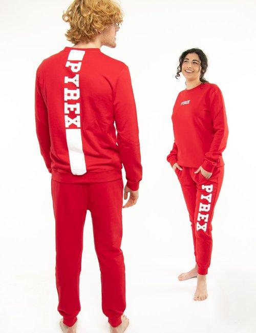 Pantalone Pyrex con logo a lato - Rosso