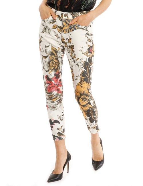Jeans Desigual floreale - Bianco