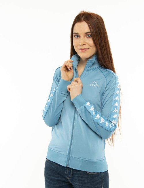 Felpa Kappa con bande laterali con logo - Azzurro