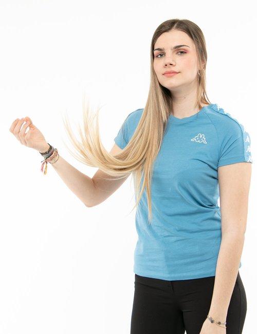 T-shirt Kappa con bande laterali - Azzurro