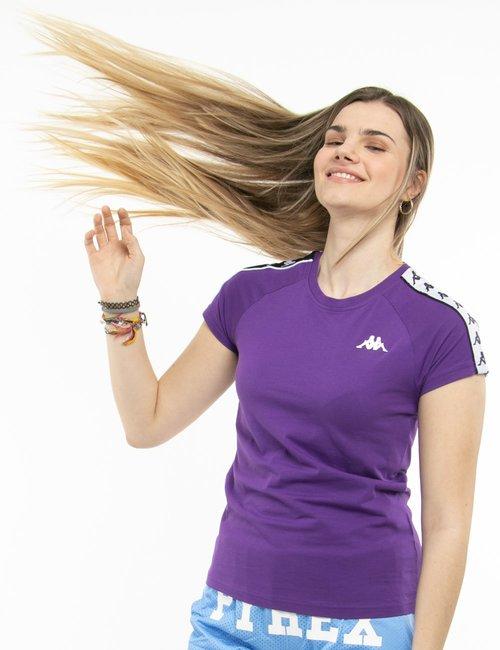 T-shirt Kappa con bande laterali - Viola
