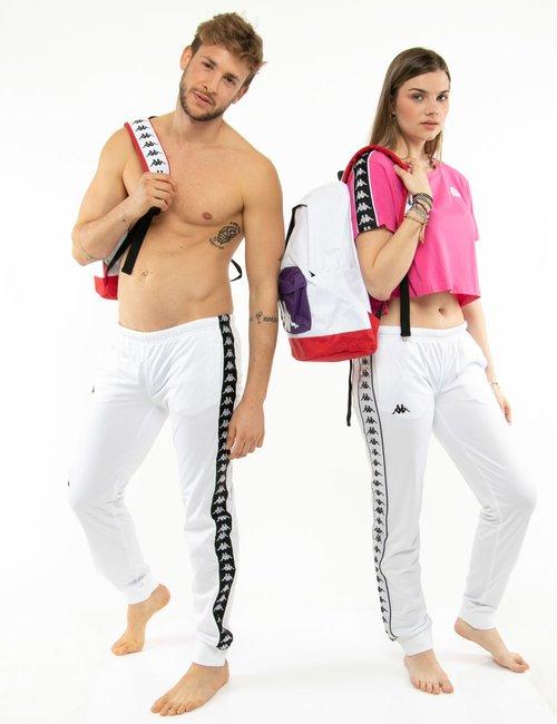 Pantalone Kappa con vita elasticizzata - Bianco