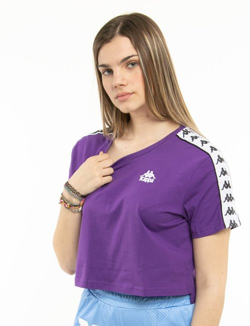 T-shirt Kappa crop - Viola