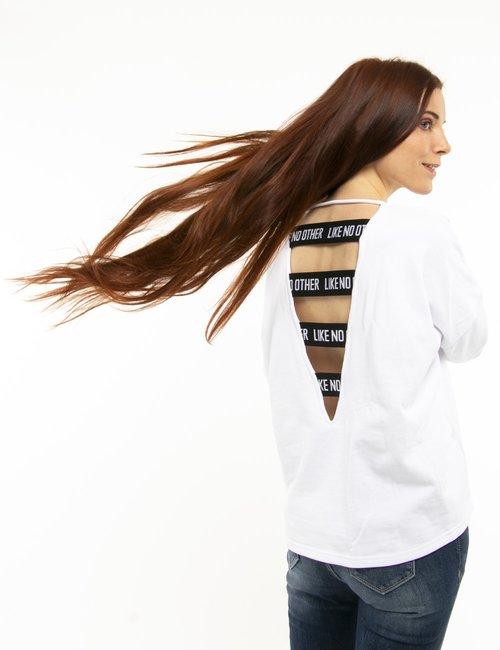 Felpa Kappa con maxi logo - Bianco