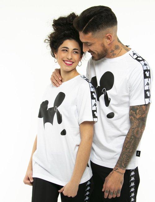 T-shirt Kappa con stampa Mickey Mouse - Bianco