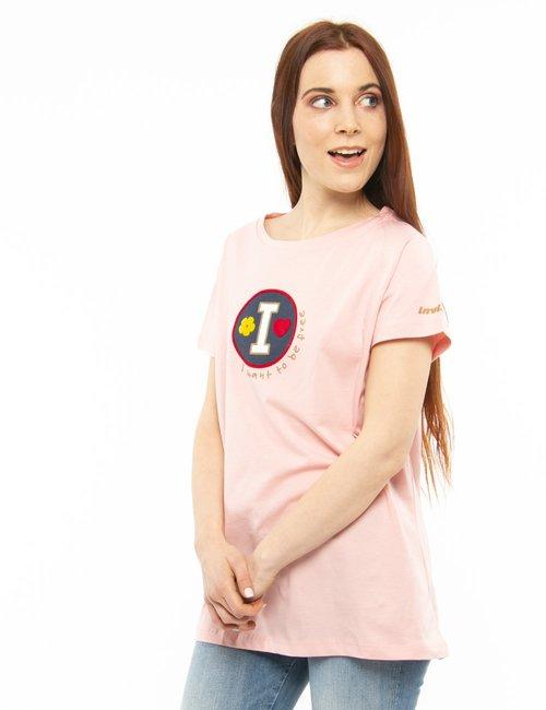 T-shirt Invicta con dettagli in rilievo - Rosa