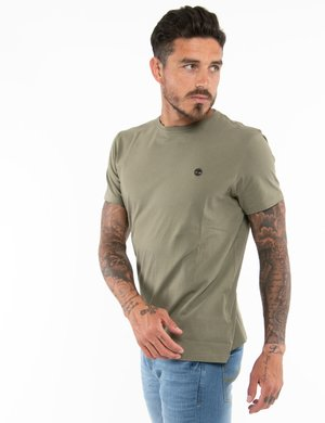 T-shirt Timberland con logo ricamato a lato