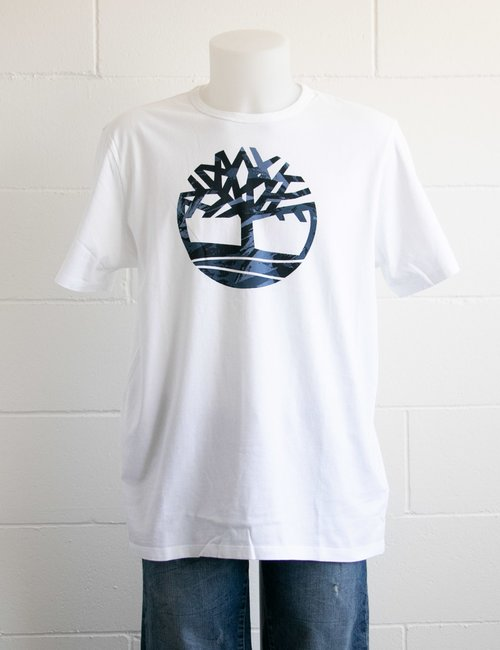 T-shirt Timberland con logo colorato - Bianco