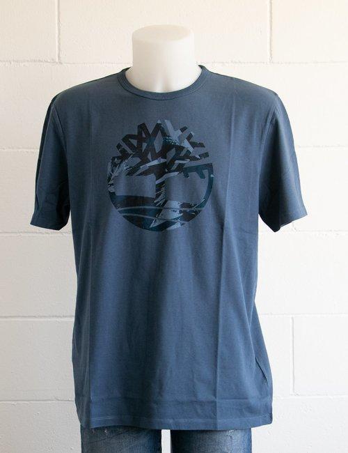 T-shirt Timberland con logo colorato - Blu