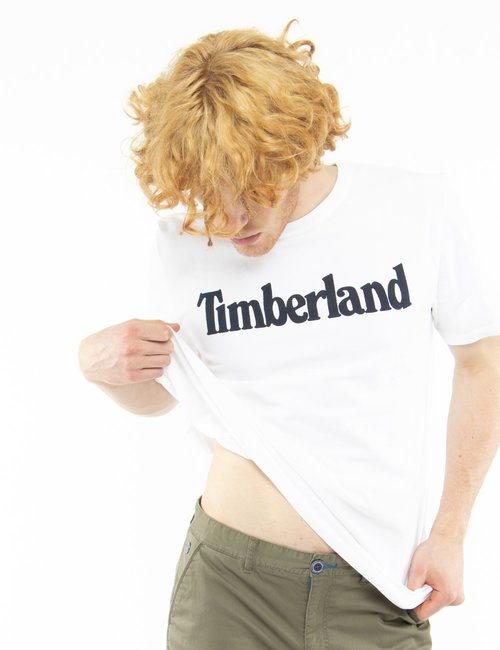 T-shirt Timberland con logo stampato - Bianco
