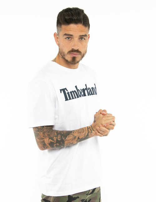 T-shirt Timberland con logo stampato - Bianco