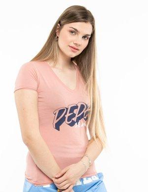 T-shirt Pepe Jeans scollo a V