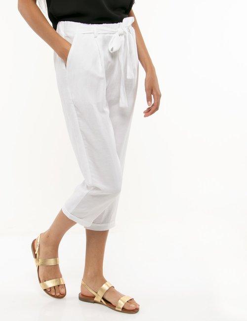 Pantalone Vougue con nastro in vita - Bianco