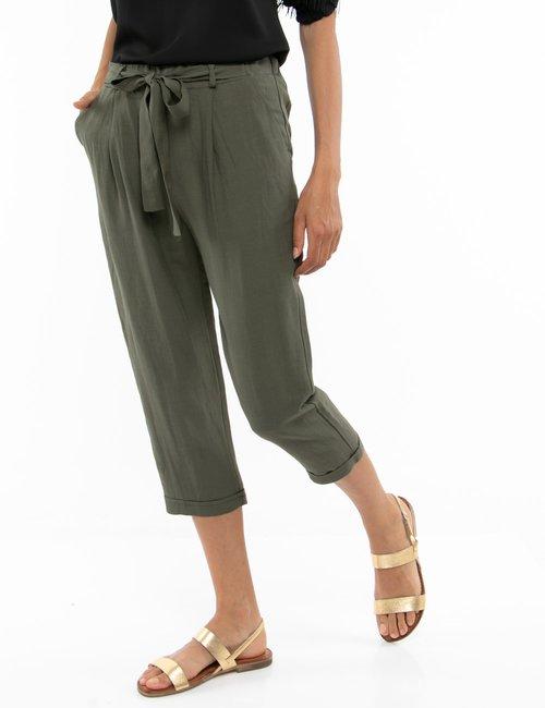 Pantalone Vougue con nastro in vita - Verde