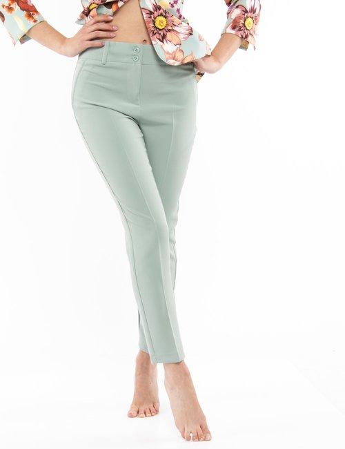 Pantalone Vougue con tasche finte - Azzurro