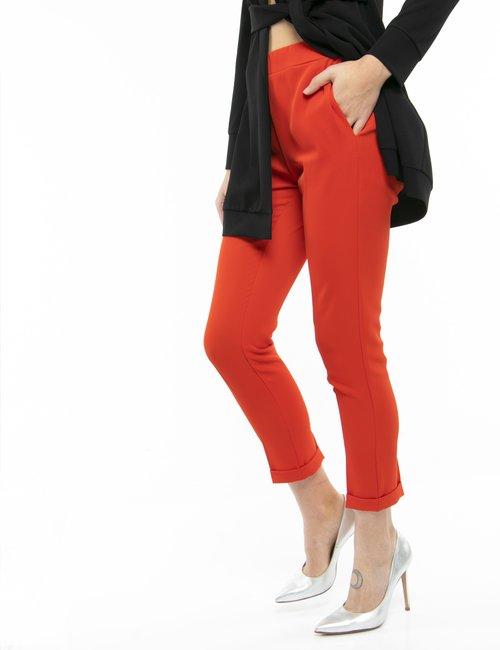 Pantalone Vougue con elastico in vita - Arancione