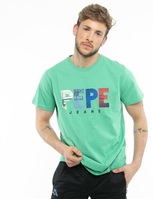 T-shirt Pepe Jeans con logo colorato - Verde