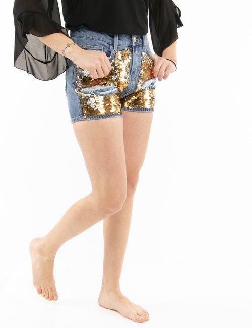 Shorts Fracomina con paillettes - Jeans