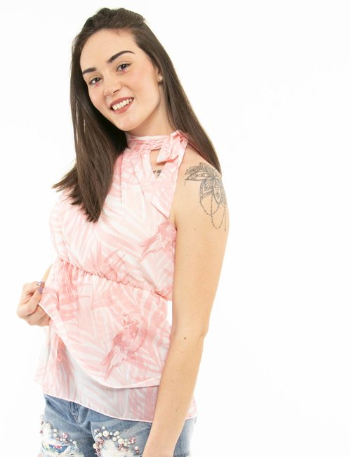 Top Fracomina con arricciatura - Rosa