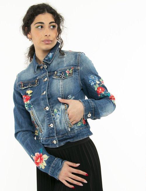 Giacca Fracomina con ricami - Jeans