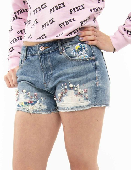 Shorts Fracomina con perline - Jeans